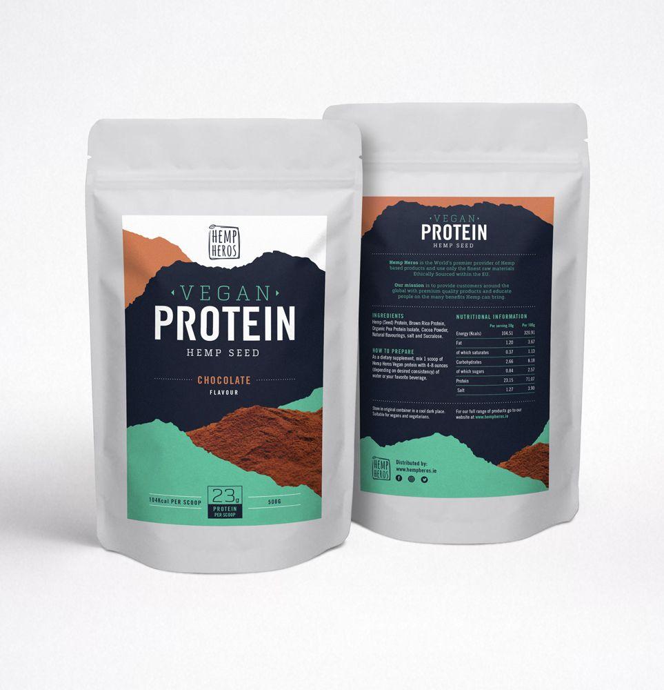 Hemp Heros Chocolate Vegan protein powder